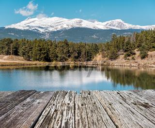 Lake at Rocky Mountains, Colorado, USA.