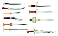 Daggers - a set of cold weapons of different countries and epochs