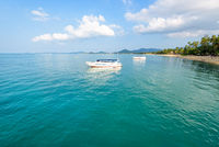 Sea at Na Phralan beach in Samui island