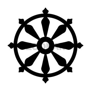Wheel of Samsara — Symbol of Reincarnation, the cycle of death and rebirth (Sacral sign of all Indian religions).