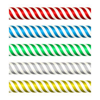 Seamless metallic stripped bars in several bright colors.