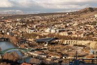 Center of Tbilisi, capital of Georgia on sunny day