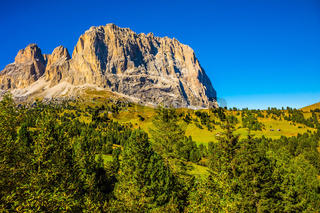 The famous picturesque Sella Pass