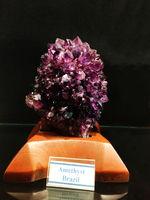 Amethyst from Brazil, Gargoti Museum, Sinner, Maharashtra, India.