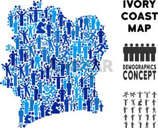 Demographics Ivory Coast Map