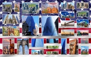New York Manhattan collage