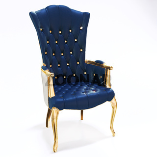 3d king's throne, royal chair