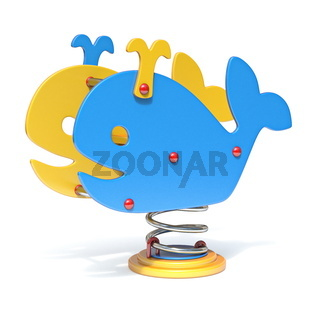 Whale spring swing 3D
