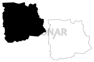 Sassandra-Marahoue District map vector