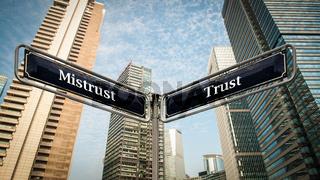 Street Sign to Trust versus Mistrust