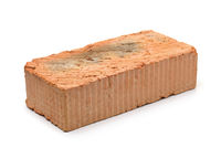 Single red clay rough brick