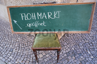 Flohmarkt in der Altstadt von Quedlinburg