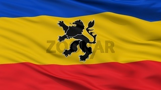 Lo Prado City Flag, Chile, Closeup View