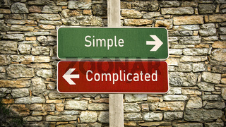 Street Sign Simple versus Complicated
