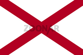 Alabama state flag. United States of America