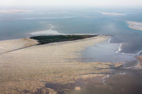 Hallig Suedfall, Aerial Photo of the Schleswig-Holstein Wadden Sea National Park in Germany