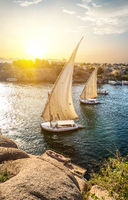 Sailboats in Aswan
