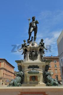 Fountain of Neptune in Bologna, Italy