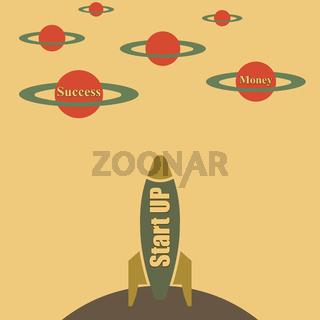Startup, vector illustration