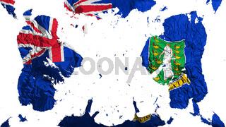 Scattered British Virgin Islands flag