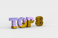 Top eight on white background (done in 3d)