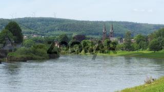Höxter - Altstadt an der Weser, Deutschland