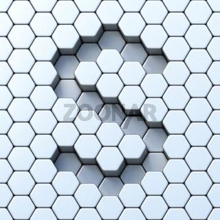 Hexagonal grid letter S 3D