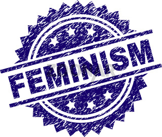 Scratched Textured FEMINISM Stamp Seal