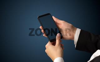 Mockup for female hand using smartphone