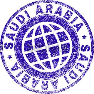 Scratched Textured SAUDI ARABIA Stamp Seal