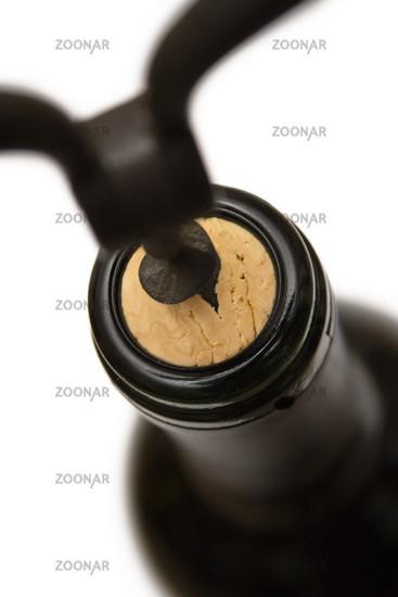 Flasche mit Korkenzieher
