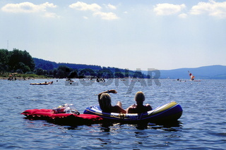summer swimming at Lake Lipno, Czech Republic