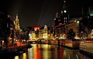 Herengracht bei Nacht, Niederlande, Holland, Amsterdam