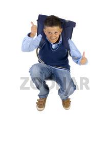 Boy having fun
