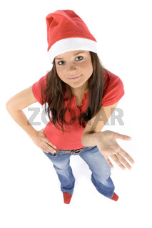 young and attractive female Santa