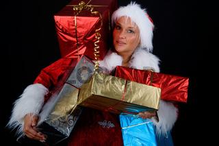 Bescherung - Weihnachtsfrau