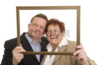 Ehepaar im Rahmen