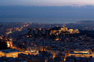 Athen zur blauen Stunde