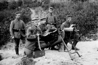 Maschinengewehr - Stellung Erster Weltkrieg