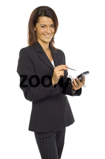 Woman with Pocket PC