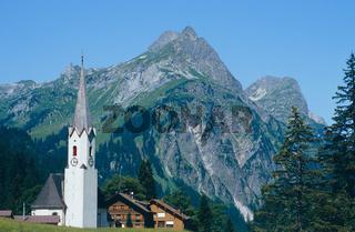 Kirche von Schroecken im Bregenzer Wald