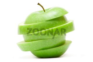 Gruene Apfelscheiben