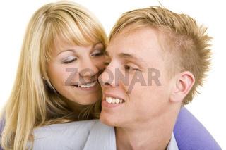 Junges lachendes Paar