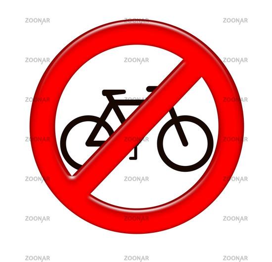 Verkehrszeichen, Cycles prohibited over white
