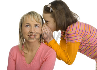 Whispering teenager
