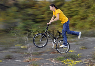 Monika Hinz BMX Flatland Fahrerin