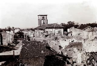 Zerstörte Kirche.
