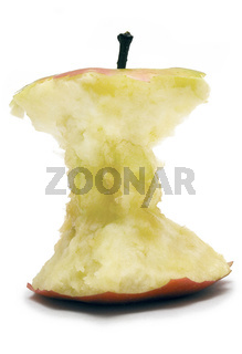 Abgenagter Apfel