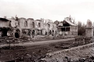Zerstörtes Dorf