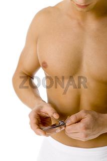 Man's beauty - cutting nails